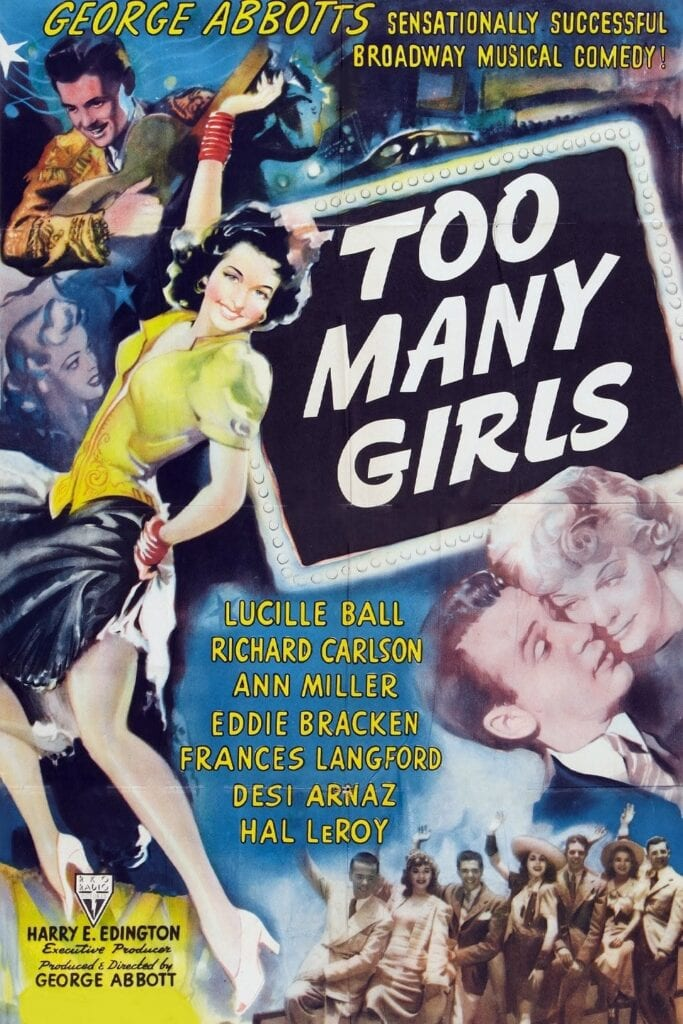 """Poster for the movie """"Too Many Girls"""""""