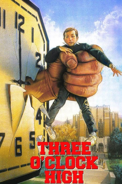 """Poster for the movie """"Three O'Clock High"""""""