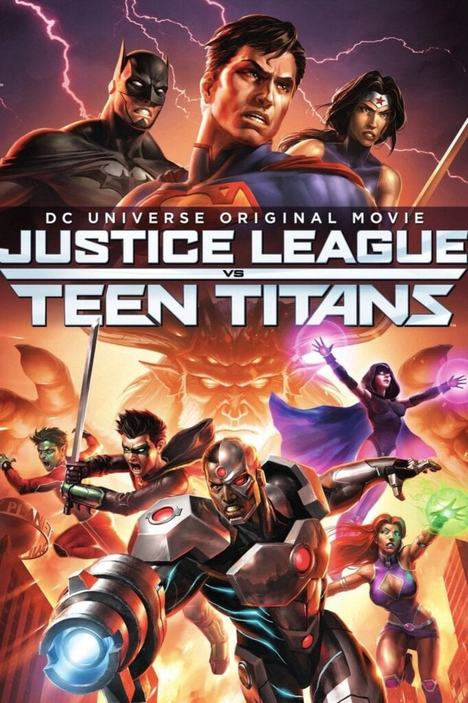 """Poster for the movie """"Justice League vs. Teen Titans"""""""