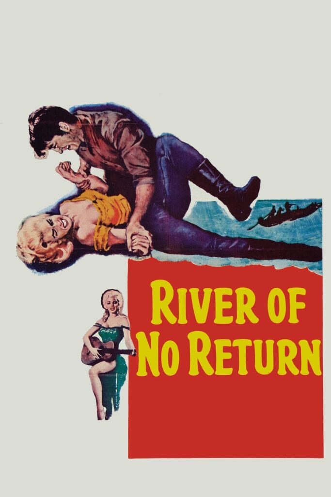 """Poster for the movie """"River of No Return"""""""