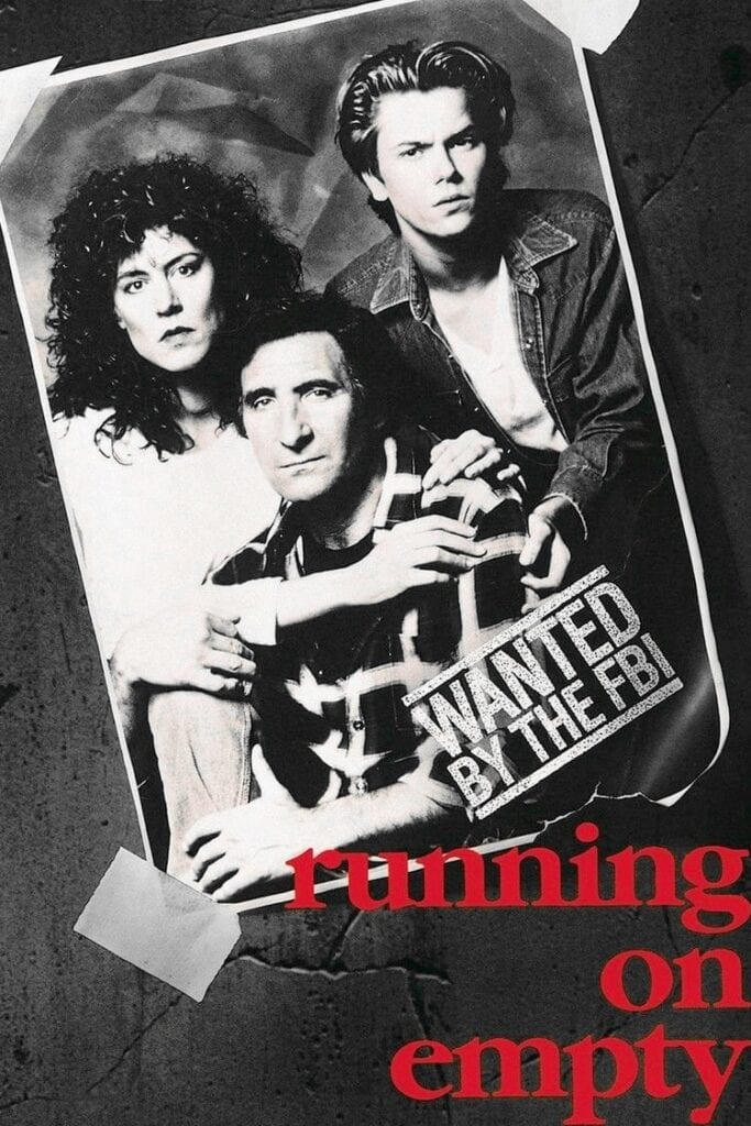 """Poster for the movie """"Running on Empty"""""""