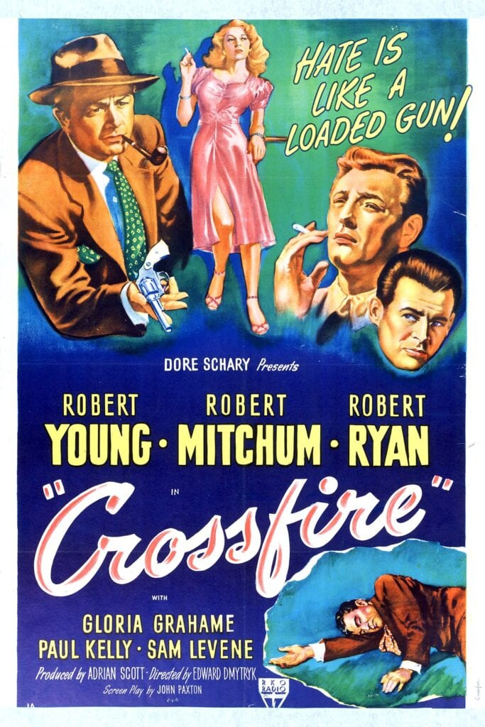 """Poster for the movie """"Crossfire"""""""
