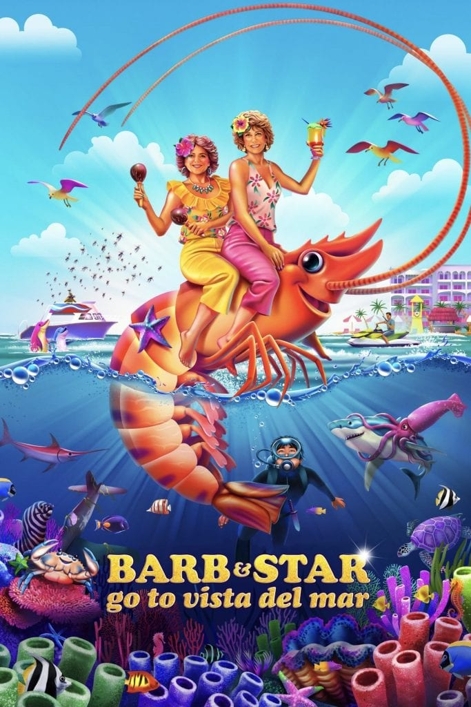 """Poster for the movie """"Barb and Star Go to Vista Del Mar"""""""